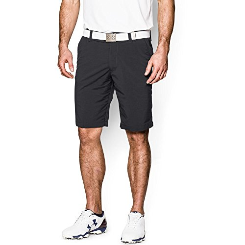 Embroidered Stretch Shorts (Under Armour Men's Match Play Shorts, Black/Black 32)