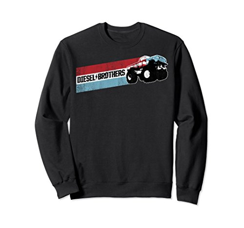 Unisex Diesel Brothers Red White Blue Stripe Truck Sweatshirt 2XL - White Blues Black Brothers And