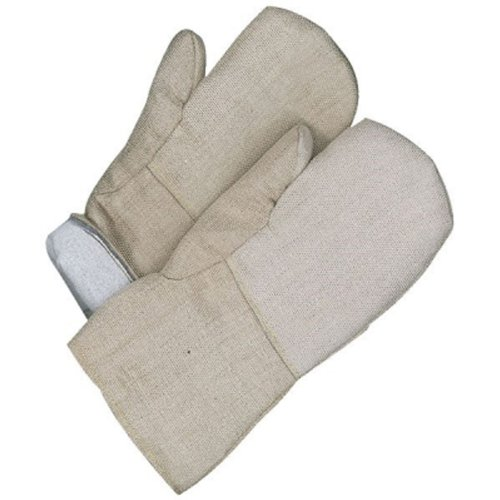 Bob Dale 63-9-740SIL High Heat Silica Cloth Gauntlet Mitt with Melton Lining, 14