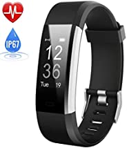Fitness Tracker, Activity Tracker Watch with Heart Rate Monitor Blood Pressure Monitor IP67 Waterproof Color S