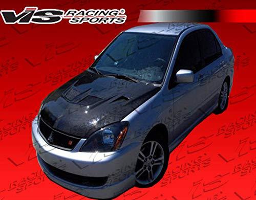 VIS Racing (VIS-GGB-727) Black Carbon Fiber Hood EVO Style for Mitsubishi Lancer 4DR 04-07