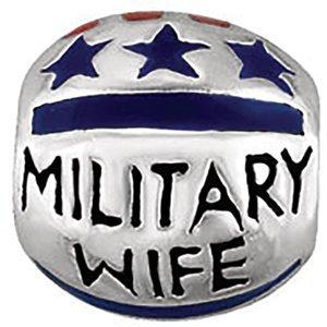 Kera Silver Enamel - Sterling Silver Kera Military Wife Enamel Bead