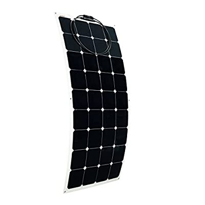 ALEKO 100W 100-Watt Semi Flexible Solar Monocrystalline Panel 12V Solar Module Power System