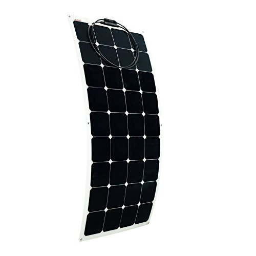 ALEKO 100W 100-Watt Semi Flexible Solar Monocrystalline Panel 12V Solar Module Power System by ALEKO