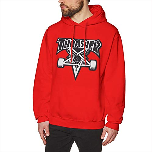 cc6dc19e5fa3 MKILOI PLIOFU Thrasher Logo Printed Drawstring Pullover Men s Boys Hoodies  Drawstring Closure Pullover Hoodie