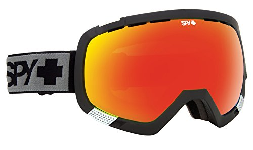 Spy Optic Platoon Snow Goggles, One Size (Matte Black Frame/Bronze w/Red Spectra + Blue Contact - Happy Lens Goggles Spy