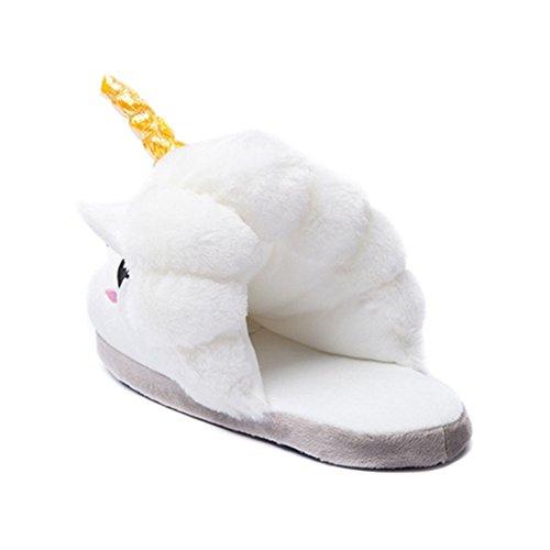 iBaste Plüsch Einhorn Hausschuhe Hausschuhe Winter Baumwolle Hausschuhe Schuhe, europäische Größe: 36–�?1, Geschenke Festival Idol Neuheit Weihnachten
