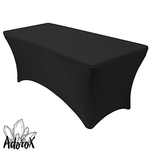 Adorox  Stretch Fabric Spandex Tight Fit Table Cloth Cover f
