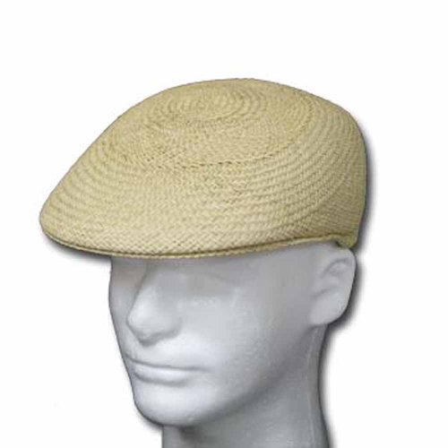 Ascot English Panama Hat Natural Straw Driver Cap 6 7/8 Beige