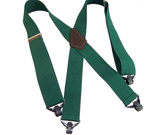 - Hold-Ups Heavy Duty Greenwood Green Work Suspenders w/patented Gripper Clasps
