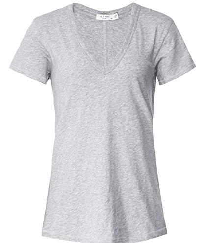 Bone And Col shirt T V Femmes Rag Gris C5aUdwqqH