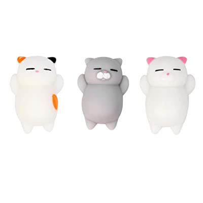 Set of 3,Xuways Fashion Mochi Cats Dolls Sweet Scented Slow Rising Doll Squishy Toys Party Favors for Kids Toy Squishies for Birthday Gift,Autism, ADHD , Decorative Props and Stress Relief: Toys & Games