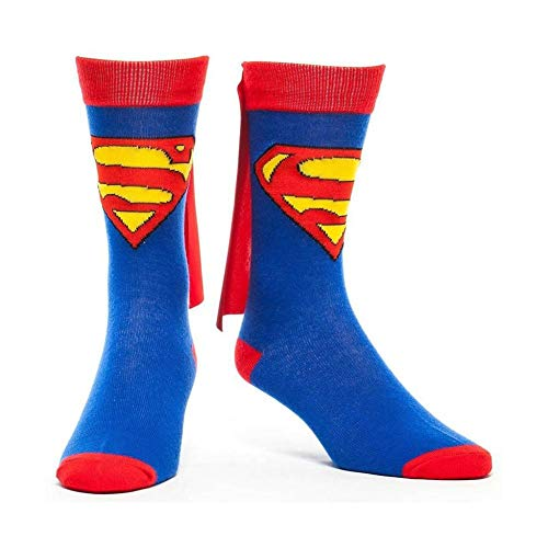 DC Comics Cape Crew Socks (Superman), Blue, One -
