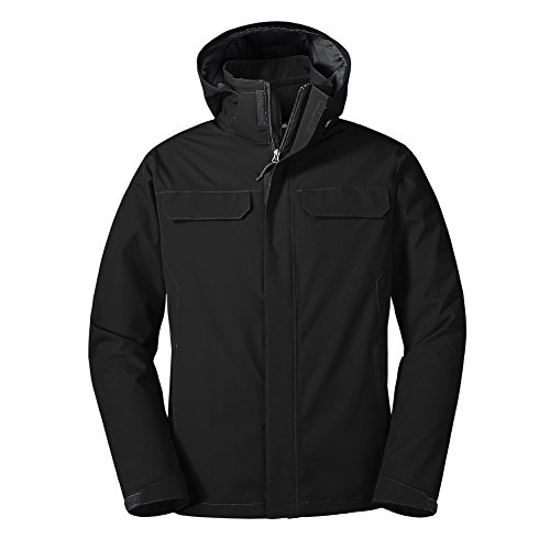 Eddie Bauer Men's Lone Peak 3-in-1 Jacket, Black Regular L by Eddie Bauer