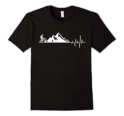 funny t-shirt for Mountain Bike Heartbeat for MTB Bikers