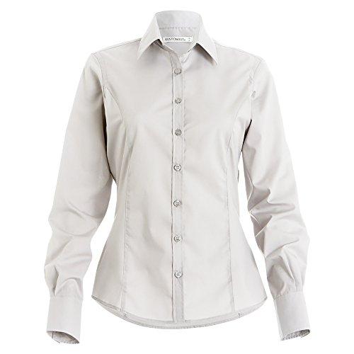 Kustom Kit - Camisa de manga larga para trabajo para mujer Azul claro