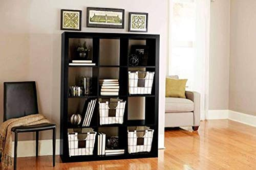 Better Homes and Gardens.. Bookshelf Square Storage Cabinet 4-Cube Organizer (Weathered) (White, 4-Cube) (Solid Black, 12-Cube) from Better Homes and Gardens..