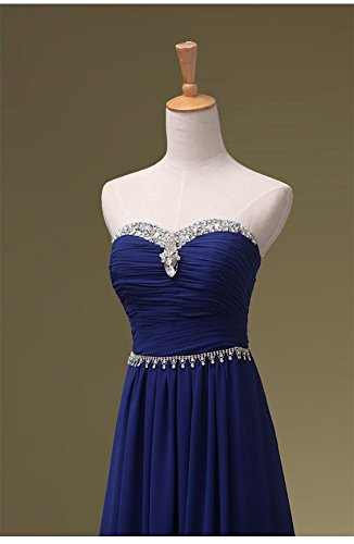 Abendkleider Beauty Pailletten Maxi Emily förmlichen Königsblau Trägerloses lang wwq4Ux8