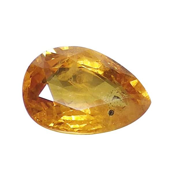 Gemsyogi 16X12 MM Real Yellow Sapphire Stone Oval Shape Faceted Loose Gemstone For Jewellery Making