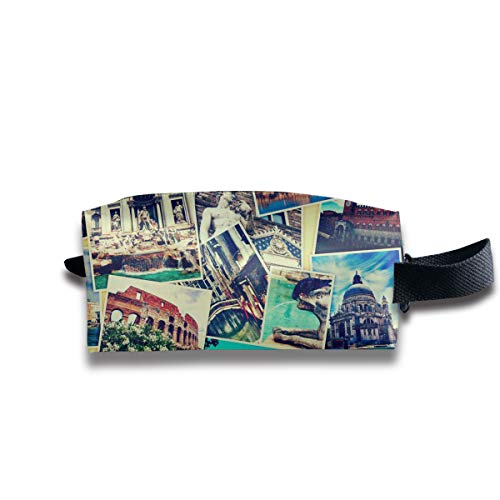 Wpipbag Holiday Mosaic Women's Makeup Bag Small Cosmetic Pouch Waterproof Toiletries Organizer Bag for Travel