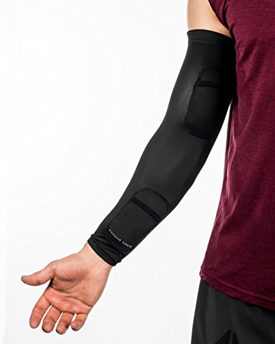 New Kryofit Cold Compression Sleeves w/Freeze Pack Inserts – 2 Sleeves w/ 4 Cryo Gels – for Arm/Wrist Cryotherapy, Muscle Recovery, Joint Support, Endurance Sports etc. by Kryofit Sport (Image #1)