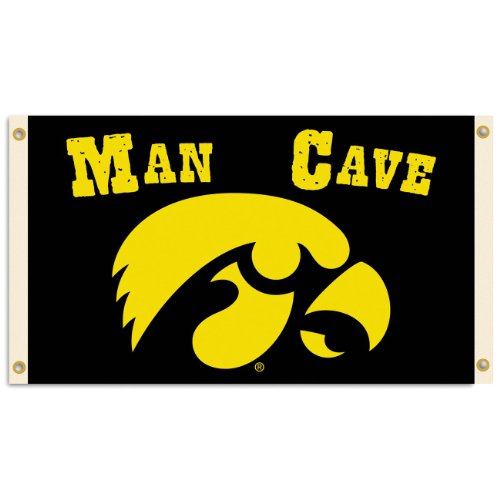 - NCAA Iowa Hawkeyes Man Cave Flag with 4 Grommets (3 x 5-Feet)