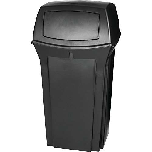 Rubbermaid Commercial Ranger Trash Can, 35 Gallon, Black, (Ranger Trash Container)