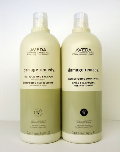 Aveda Damage Remedy Shampoo & Conditioner Liter Duo Set 33.8 oz by Aveda