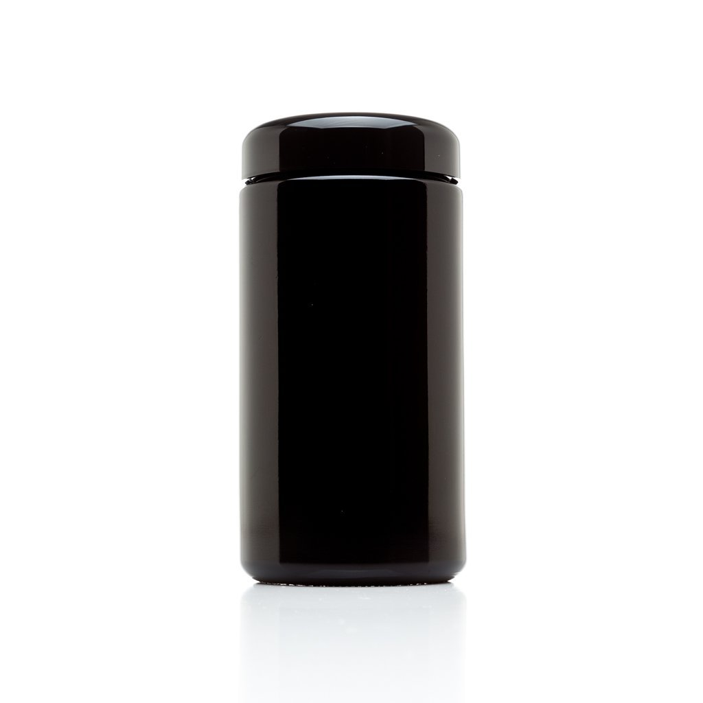 Infinity Jars 500 ml (17 fl oz) Tall Large Black Ultraviolet Glass Wide Mouth Screw Top Jar (1)