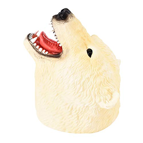 - Opef Shark Dolphins Lion Polar Bear GOG Hand Puppets Role Play, Realistic Animal Head Gloves Toy (D)