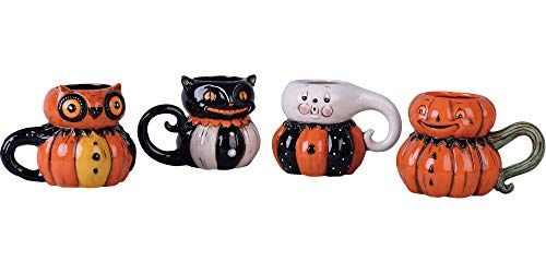 (Johanna Parker Pumpkin, Ghost, Cat and Owl Character Dolomite Mug)