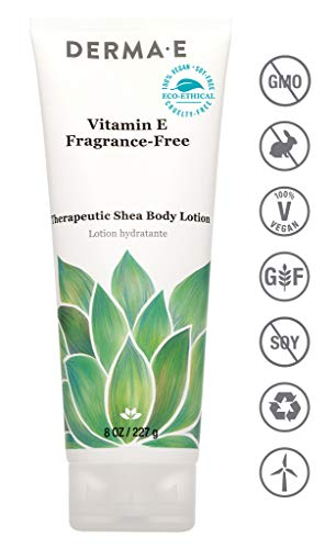 Moisturizer Derma Body - DERMA E Vitamin E Intensive Therapy Body Lotion, Fragrance-Free  with Shea Butter 8oz