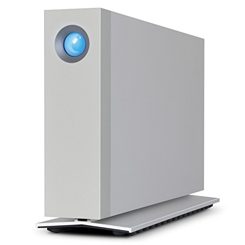 LaCie d2 Thunderbolt 3 10TB External Hard Drive Desktop HDD - Thunderbolt 3 USB-C USB 3.0, 7200 RPM Enterprise Class Drives, for Mac and PC Desktop, 1 Month Adobe CC (STFY10000400)