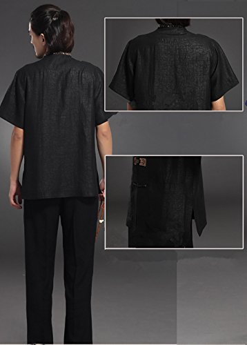 High-end Business Shirts Men's shirt Tang Costume Tang Suit Retra Shirt Chinese National Style Mulberry Silk by LUOLAN-Tang Sui (Image #6)