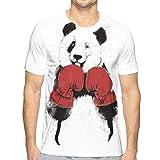 Boxing Panda Red Men's Novelty T-Shirts Casual Graphic Tees
