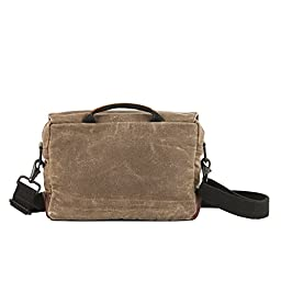 NutSac Satchel - Mens Satchel/Tablet Bag in Waxed Canvas and Leather (Tan)