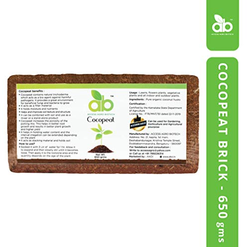 Access Agro Biotech Cocopeat Brick for Plants with Low EC - Expands Upto 3.5Kg of Coconut Coir Powder for Garden and Agriculture (B085DH8GG4) Amazon Price History, Amazon Price Tracker