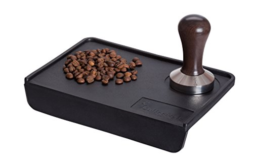 Coffee Tamper Standard for Espresso, Stainless Steel and Handle from solid wood (57mm, Venge)