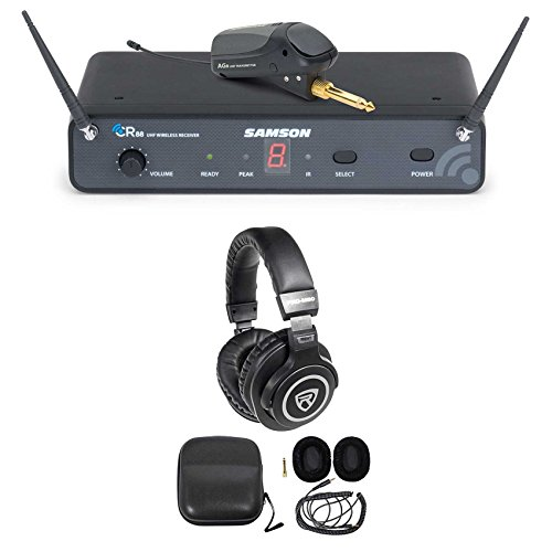 SAMSON AirLine 88 AG8 UHF Guitar System, w/ Plug-In Transmitter + Headphones by Samson Technologies