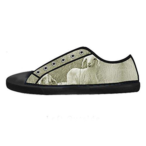 I Da Canvas Ginnastica Custom Scarpe Lacci Shoes Women's Alto Delle Pecore Reticolo Tetto wqqzaY