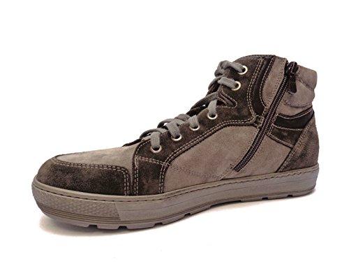 Uomo Nero Giardini sneakers alte da in camoscio tortora multi