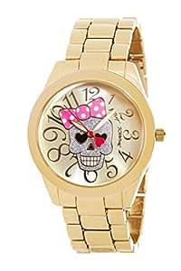 Betsey Johnson Women's Watch BJ00519-02 Gold Skull Bow