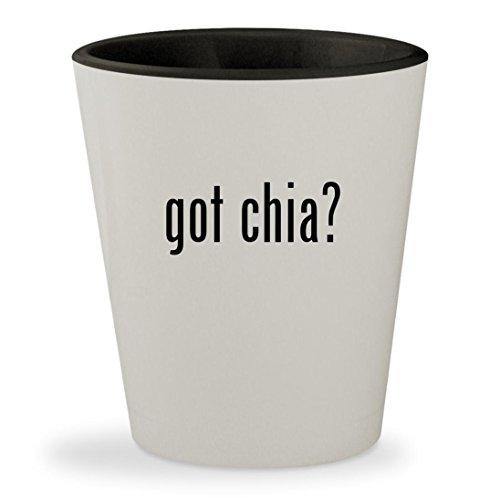 got chia? - White Outer & Black Inner Ceramic 1.5oz Shot Glass