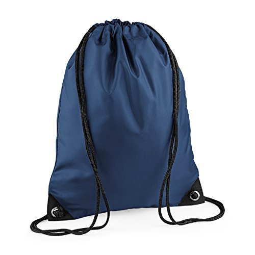 Shoulder Retro Pocket Colours Bagbase Unisex Bag Zipped Strap Navy xZSAq6qfw