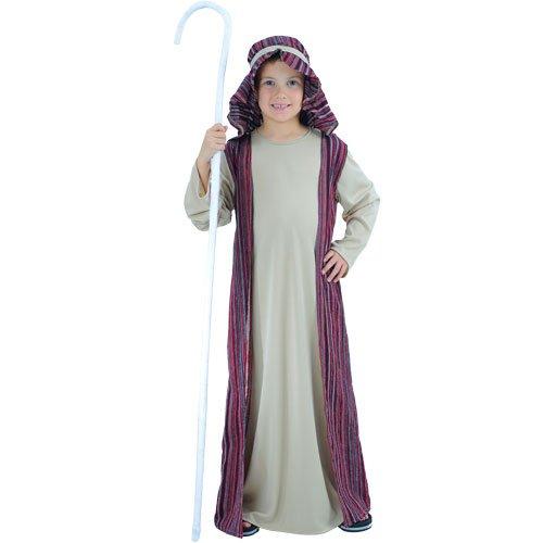Farmer And Sheep Costume (Childrens Boys Shepherd Costume for Nativity Christmas Sheep Farmer Cosplay Age 8-10)