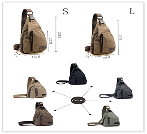Kalevel Cool Outdoor Sports Casual Canvas Unbalance Backpack ...