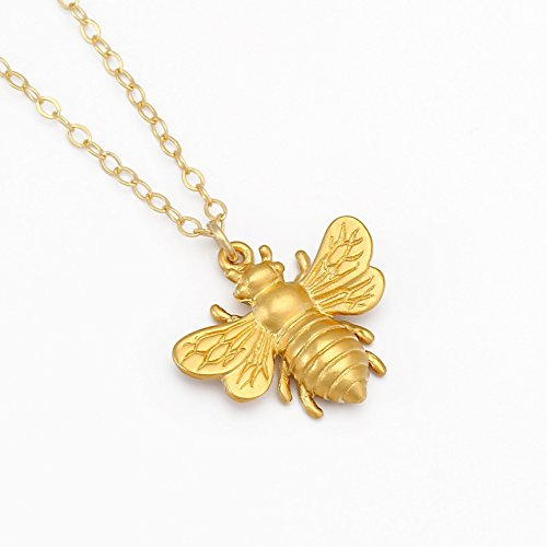 Gold Bumble Bee Charm - 3
