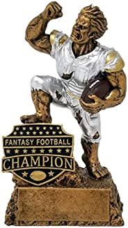 Fantasy Football League Champion Monster Trophy - FFL Triumphant Beast Gridiron Award - Available in Two Sizes