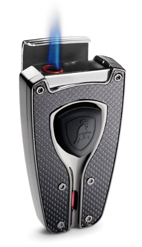 orza Black Carbon Fiber Cigar Lighter ()
