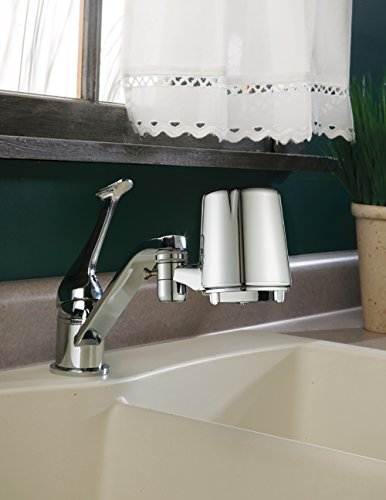 Culligan FM-25 Faucet Mount Filter with Advanced Water Filtration, Chrome Finish